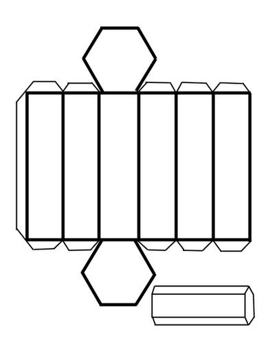 Modelo y Maqueta de Prisma Hexagonal