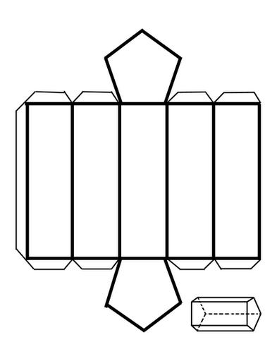 Modelo y Maqueta de Prisma Pentagonal