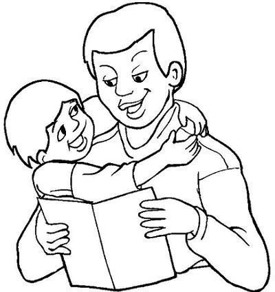 Father Son Coloring Pages