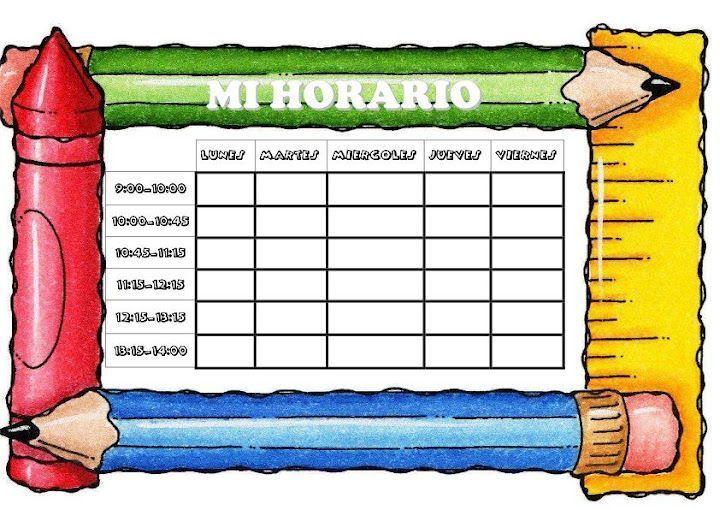 plantilla horarios escolares
