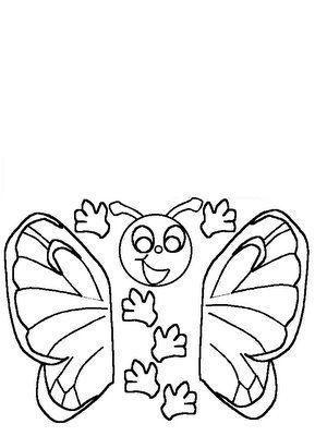 recortable de mariposa
